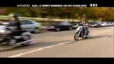 Essai Moto : Triumph Thunderbird 1600 avec Richard Berry - Automoto.fr – 08/11/2009