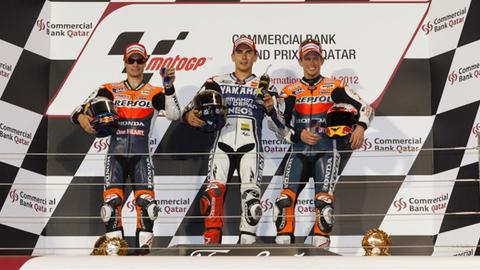 Regardez le podium du Grand Prix Moto d